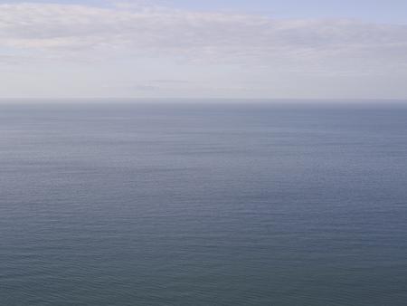 Aerial view of ocean and horizon