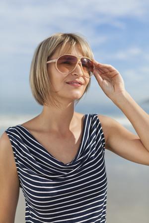 Woman wearing sunglasses outdoors