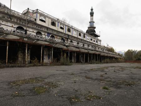 Abandoned ornate building