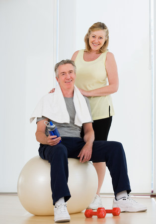 Portrait of a couple in a gym