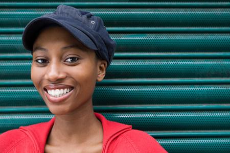 Young woman wearing cap