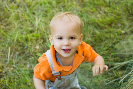 Portrait of a baby boy Stock Photo