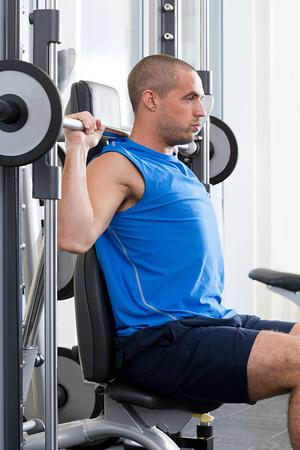 Man weight training