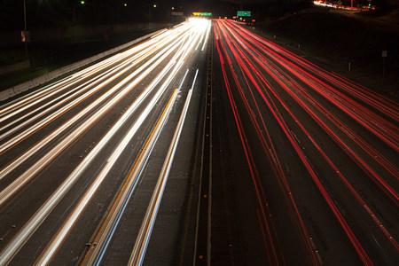 Interstate 405 at Sunset Bouledvard, Los Angeles County, California, USA