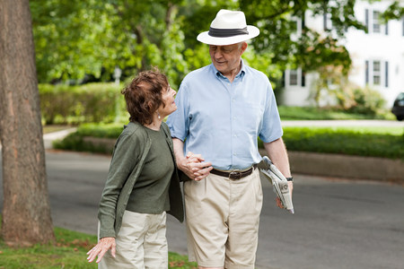 Senior couple  in neighborhood