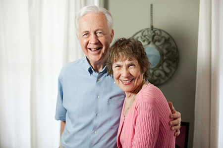 Senior couple smiling Stock Photo