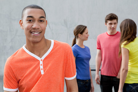 Young man and friends Stock Photo - 86036898