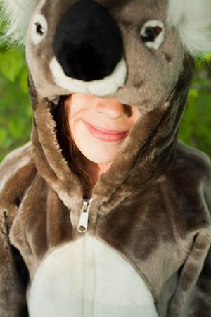 Girl dressed as koala