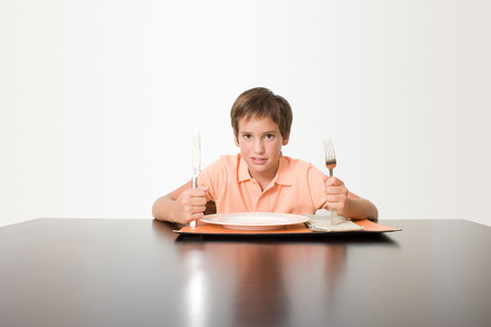 Boy waiting for meal