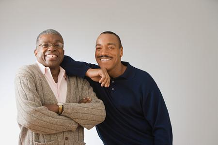 Vader en zoon Stockfoto