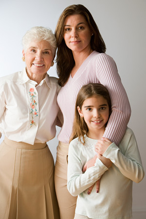 Women of the family Stock Photo