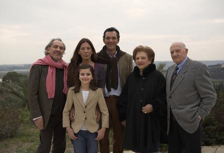 Multigenerational family outdoors, portrait Stock Photo