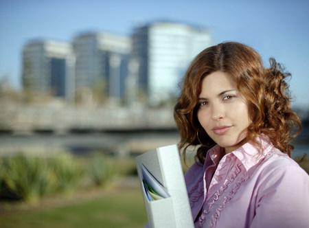 Portrait of confident business woman Imagens