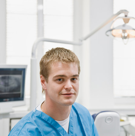Portrait of a male dentist