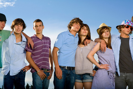 Teen group portrait