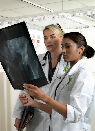 Two doctors with x-ray