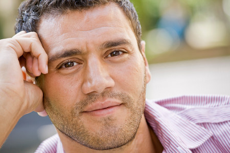 Portrait of a man smiling Stock Photo