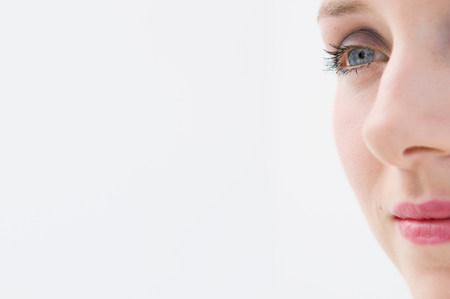 A cropped female head shot