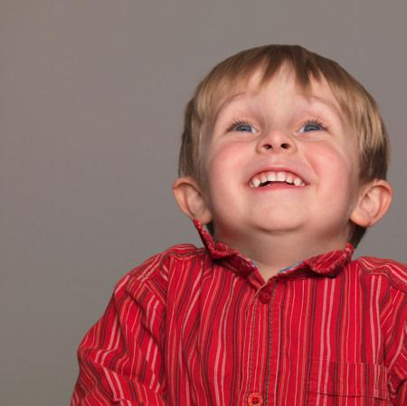 Boy laughing,  portrait,  close-up