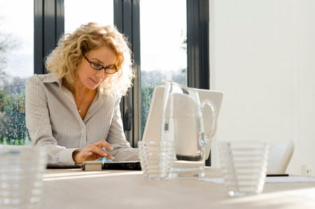 Woman at work on the computer