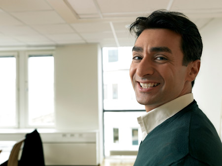 Business man smiling Stock Photo