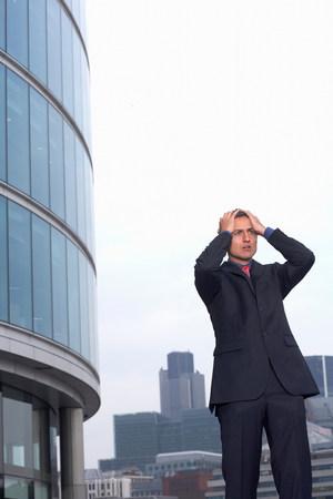 exasperated businessman