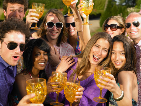 People toasting their glasses Banco de Imagens - 114013428