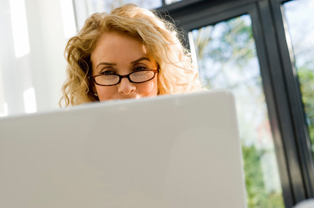 Woman on the computer