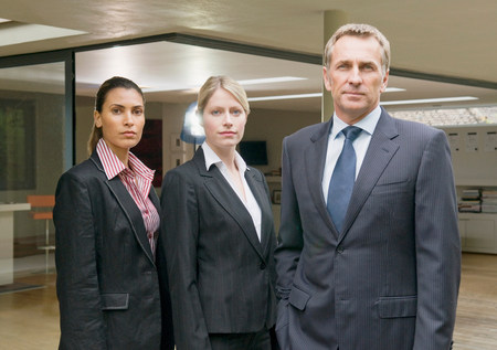 A portrait of three business people. Stockfoto