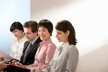 A line of applicants for a job