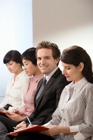 A male applying for a job Reklamní fotografie