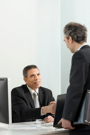 A business colleagues shaking hands