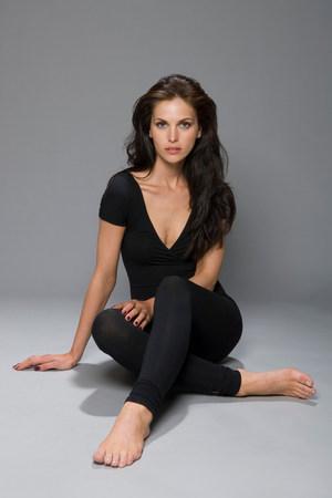 female beauty in catsuit