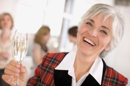 woman with a champagne glass Archivio Fotografico