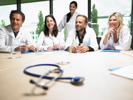 Doctors around a table