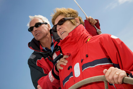 Concentrating couple sailing yacht