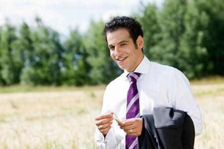 businessman feeling spike