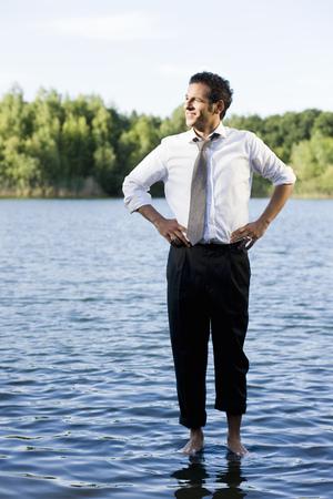 man walking on water Reklamní fotografie