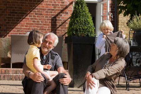grandparents with grandchildren 写真素材