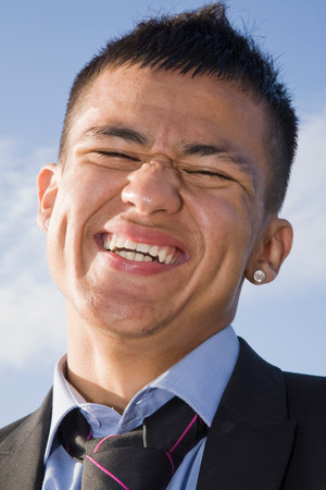 Hispanic Teenager in a suit