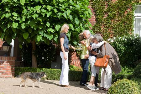 visit of grandparents 스톡 콘텐츠 - 113895978