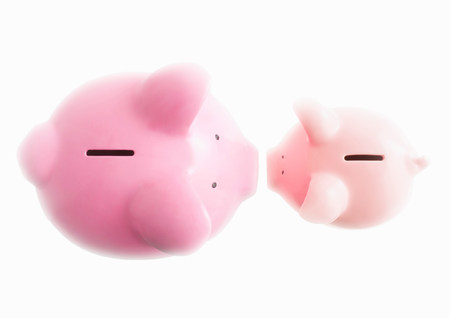 Piggy banks on white Banque d'images - 114017578