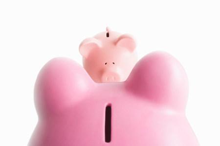 Piggy banks on white Banque d'images - 113815258