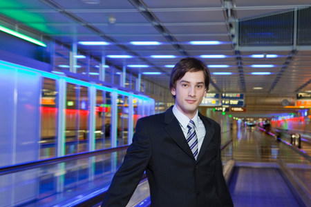young businessman at airport