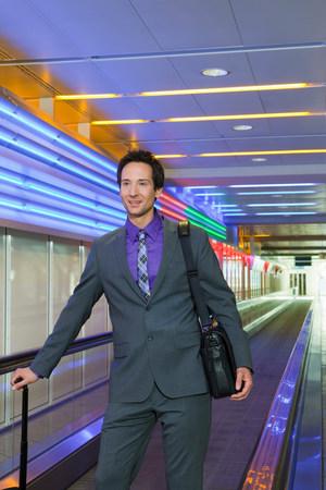business man on conveyor belt