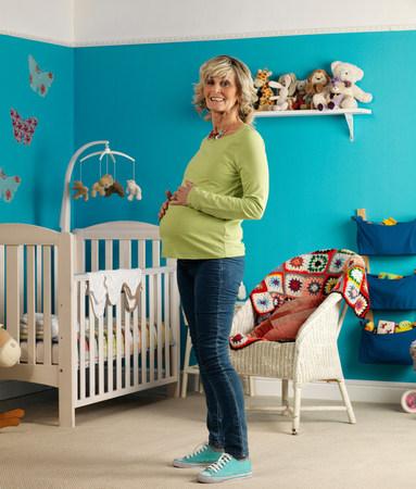 Pregnant older woman