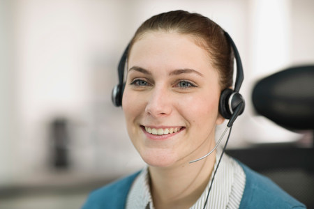 Portrait of a young receptionist