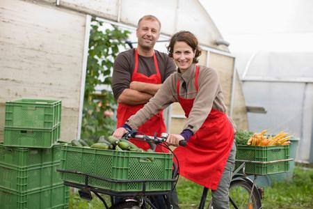 Farming vegetables and fruits 免版税图像