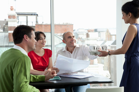 Relaxed business meeting Stock Photo