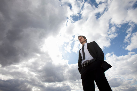 Businessman looking ahead Reklamní fotografie